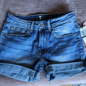 7 For All Mankind Girls Denim Shorts